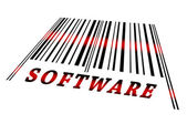 Software on barcode — Stock Photo
