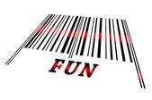 Fun on barcode — Stock Photo