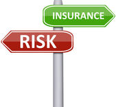 Risk and insurance — Stock Photo
