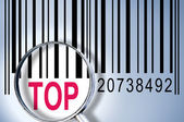 Top on barcode — Stock Photo