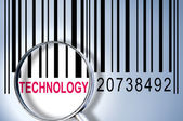 Technology on barcode — Stock Photo