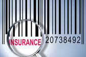 Insurance on barcode — Stock Photo