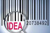 Idea on barcode — Stock Photo