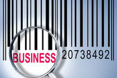 Business on barcode — Stock Photo