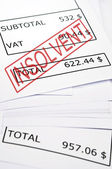 Insolvent stamp on financial paper — Stock Photo