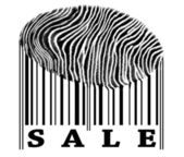 Sale on barcode — Stock Photo
