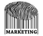 Marketing on barcode — Stock Photo