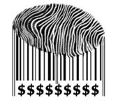 Dollar Sign on barcode — Stock Photo