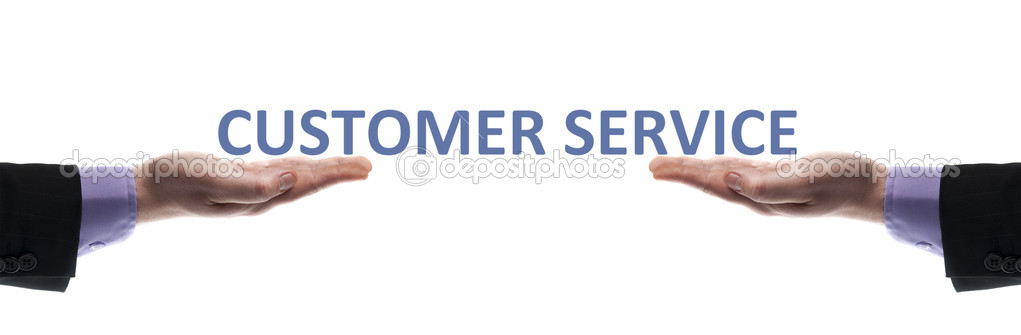Customer service message in male hands  Stock Photo #6240851
