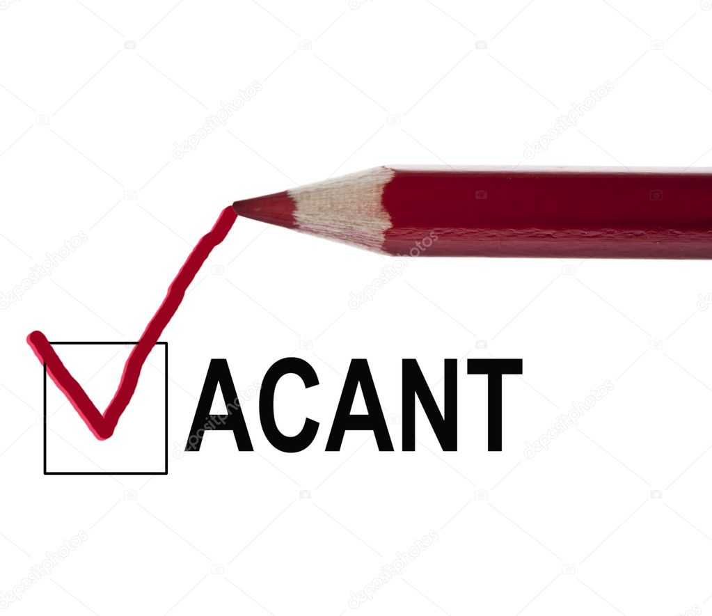 Vacant message and red pencil — Stock Photo #6241809