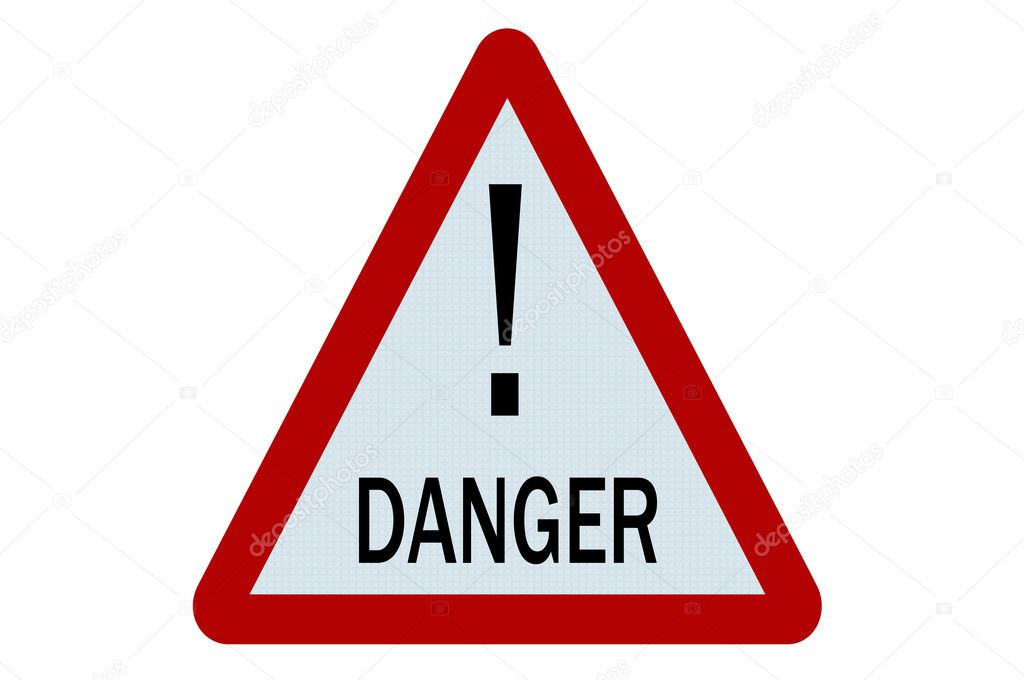 Danger sign illustration on white background — Stock Photo #6241962