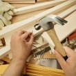 Wood working — Stockfoto
