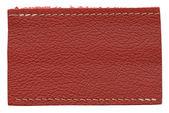 Leather label — Stock Photo