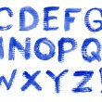 Vector alphabet — Stock Vector
