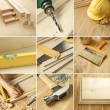 Tools collage - Stockfoto