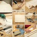 Tools collage — Stock Photo