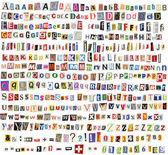 Alphabet de journal — Photo