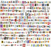 Newspaper alphabet — Stock Photo