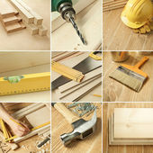 Tools collage — Stock Photo