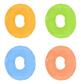 Watercolor number — Stock Photo