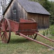 Stock Photo: Red Farm Cart