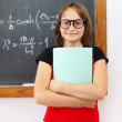 Wise math schoolgirl — Stock Photo