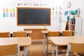 Empty class room of elementary school — Stock Photo