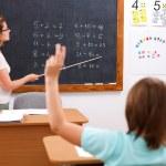 Math class in school — Stock Photo