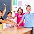 United students and teacher — Stock Photo