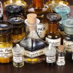 Various pharmacy bottles of homeopathic medicine — Stock Photo