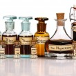 Various mother tinctures of homeopathic medicine — Stock Photo