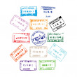 Passport Stamps - Stock Photo