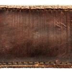 etiqueta de couro marrom — Fotografia Stock  #6541282