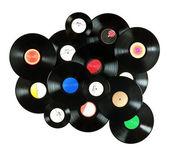 Vintage vinyl records — Stock Photo
