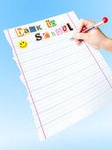 "To do list ""Back to school"" — 图库照片"