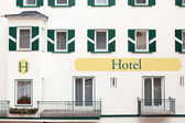 Hotel, detail of facade — Stock Photo