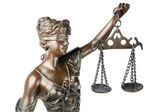 Themis, mythologic greek goddess, symbol of justice — Stock Photo