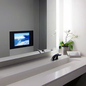 Modern public bathroom interior — Stock Photo
