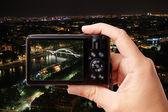 Taking picture of night Paris — Stock Photo