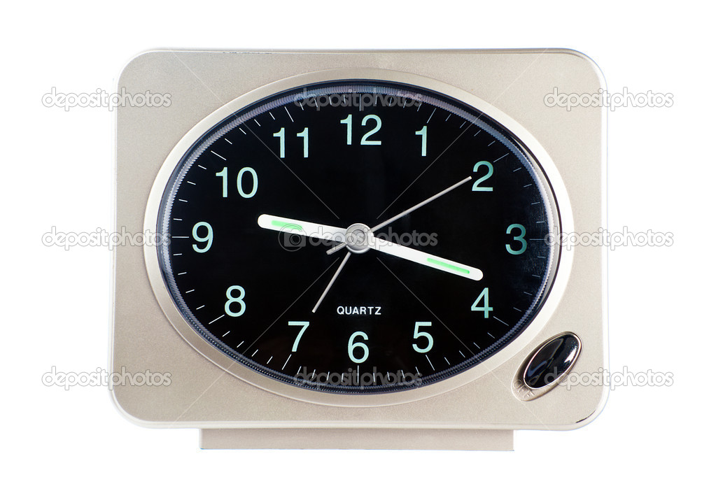 Used table quartz alarm clock — Stock Photo #6541277