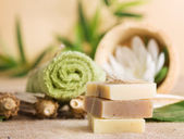 Natural soaps — Stock Photo