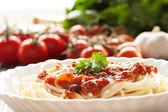Pasta with ingredients — Стоковое фото