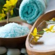 Spa setting with flower — Stock Photo