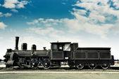 старые ржавые локомотив — Стоковое фото