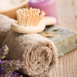 Spa with lavender and towel — Stock Photo #6006180