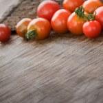 Cherry tomatoes background — Stock Photo