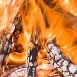 Burning logs — Stock Photo #6437120