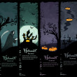 Vector Halloween banners — Stock Vector #6648146