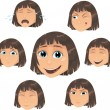 Vector girl character - Stock Vector