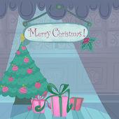 Vector Christmas holiday card — Stock Vector